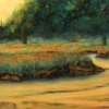 "On the Banks 12"" x 34"" (31 x 87 cm), pastel"