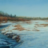 "Southern Pasture, Early Winter 12"" x 23"" (31 x 59 cm), pastel"