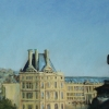 "View from the Louvre 15.5"" x 33.5"" (40 x 86 cm), pastel"