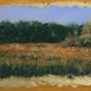 "West Union Colors II 9.75"" x 21.75"" (25 x 56 cm), pastel sull'oro (on gold leaf)"