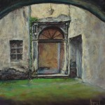 "L'Entrata (The Entry) (Print) - Image size 11"" x 10.75"" (28 x 28 cm) - Matted Size 17"" x 16"" (43 x 41 cm) - Price $125"